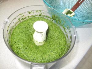 Fluffy puree of greens.
